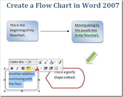 Create A Flow Chart In Word   How     Chart