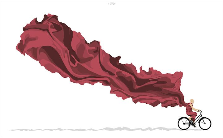 Artist Designs Powerful Poster for Nepal After Devastating Earthquakes - My Modern Met