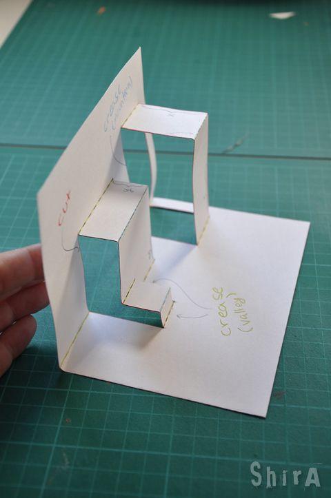 Pop Up Tutorial 2 Asymmetric Box Fold Pop Up Cards Diy Pop Up Cards Paper Pop