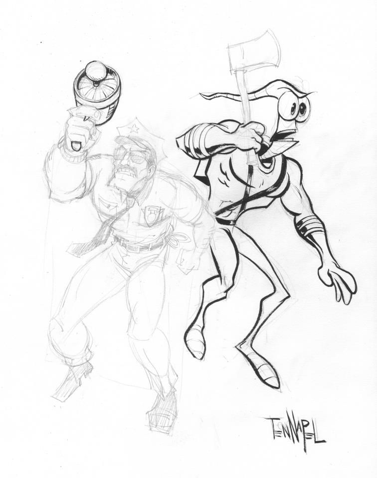 Earthworm Jim Concept Art And Paintings By The Original Video Game Team At Shiny Entertainment Lemm S Earthworm Jim Fan Earthworm Jim Earthworms Concept Art