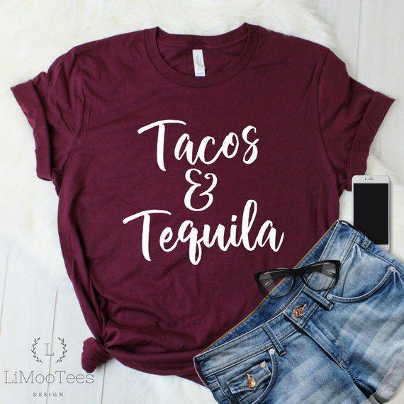 b5afc4488 Tacos And Tequila Shirt for Mom Taco Tuesday T-Shirts for Women Cute Funny  Tees