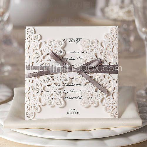 port fold bryllupsinvitasjoner invitasjonskort blomster stil kort
