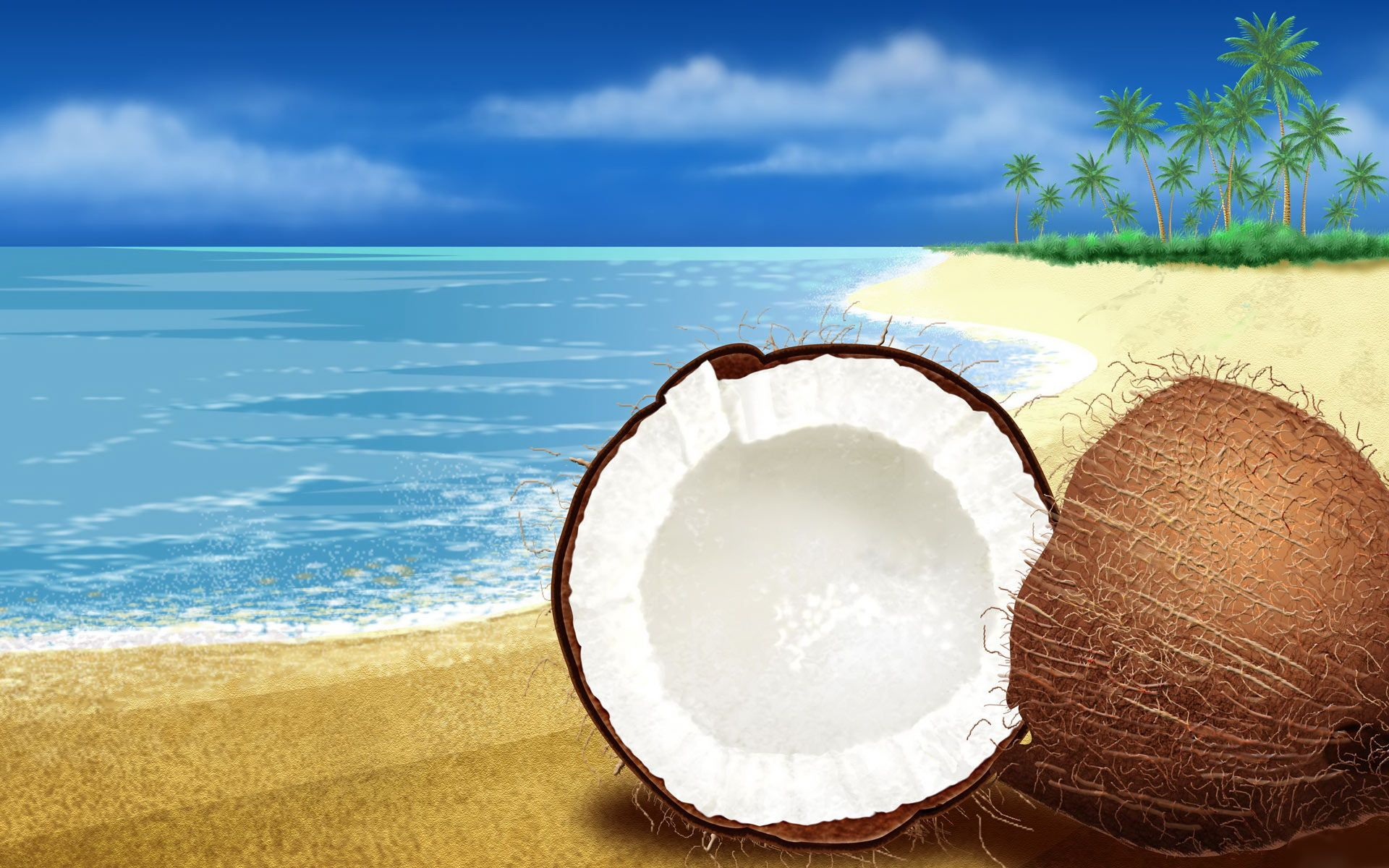 Free Desktop Free Windows 7 Backgrounds High Quality Wallpapers Wallpaper Desktop Coconuts Beach Coconut Beach Wallpaper