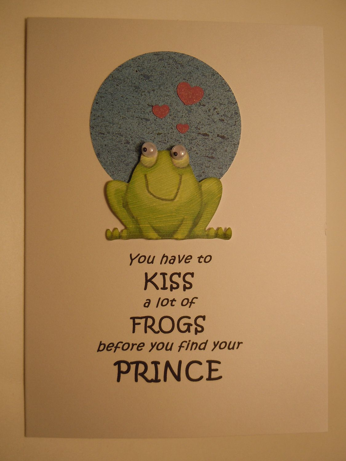 Congratulations on your engagement handmade cards engagement engagement handmade engagement congratulations greeting card with frog and hearts kristyandbryce Choice Image