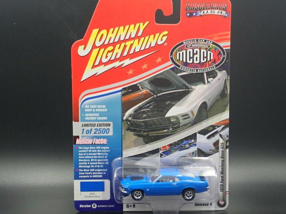 Johnny Lightning 1970 Ford Mustang Boss 429 Vs B Rel 4 1 2500 Muscle Cars Usa Johnnylightning Ford Ford Mustang Ford Gt 2005 Ford Gt