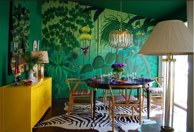 When I break big and buy a house in the Bahamas, this is what my dining room is going to look like