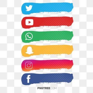 مجموعة ملصقات وسائل التواصل الاجتماعي وسائل التواصل الاجتماعي المرسومة أيقونات وسائل التواصل الاجتماعي وسائل التواصل الاجتماعي Png والمتجهات للتحميل مجانا Social Media Buttons Social Media Icons Media Icon