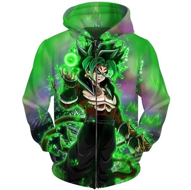 Dragon Ball Super Broly Movie 2018 Zip Hoodies ( 10 Styles ... c71a22409