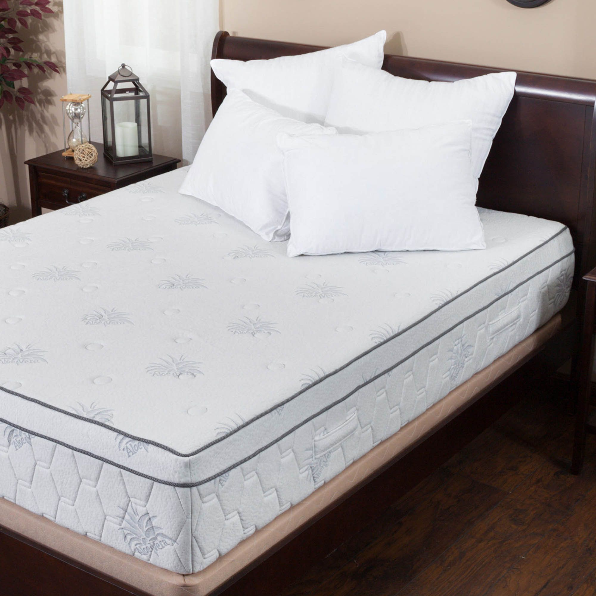 #ad Aloe Gel Memory Foam 13 Inch King Size Pillow Top Mattress Built with  the