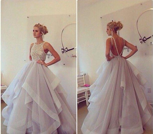 ball gown prom dress, wedding dress,backless evening dresses 2014 ...