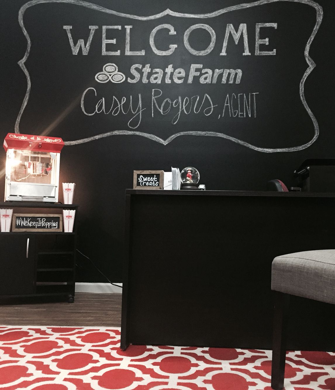 State Farm Auto Quote Adorable Chalkboard Wall  State Farm Wwwchoosecasey #wekeepitpopping
