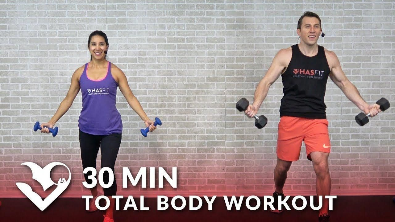 30 Minute Total Body Workout with Dumbbells - Home Strength