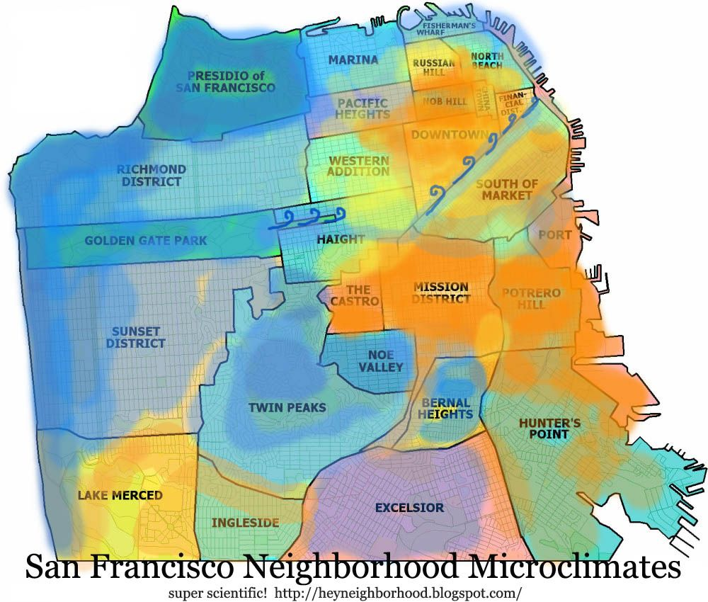 Summer Is Here And Its Time For Weird Weather San Francisco Has - Map san francisco mission district