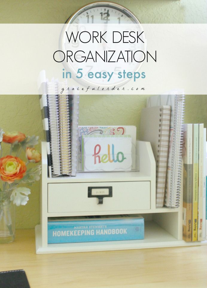 Work Desk Organization In 5 Easy Steps Home | Decoration | DIY | Home  Workspace |