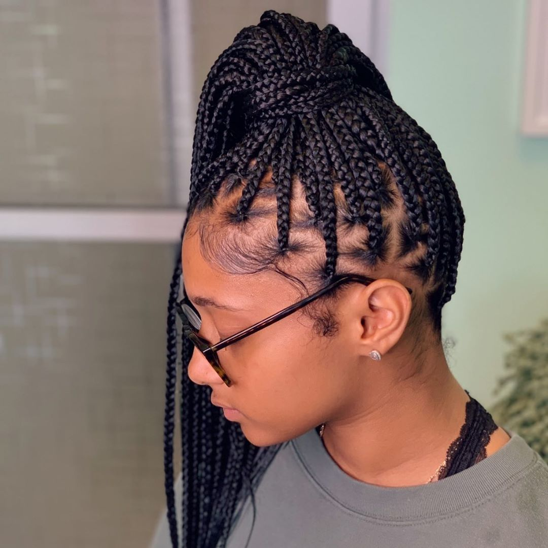 Launise On Instagram Sunday Funday Medium Knotless Braids Hairbylau Voiceofhair Miramarhairstylist Mi Hair Styles Box Braids Styling Braided Hairstyles