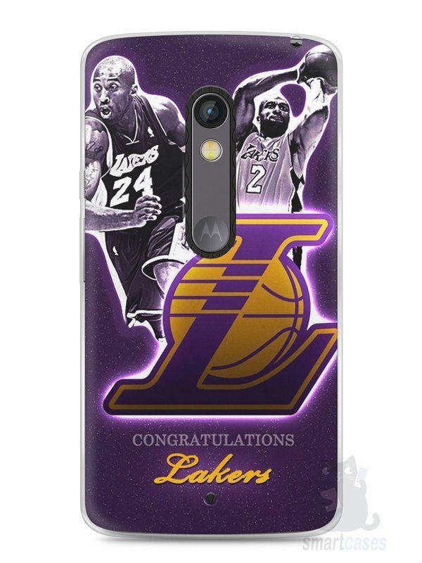 6045040af0efc Capa Capinha Moto X Play Lakers - SmartCases - Acessórios para celulares e  tablets  )