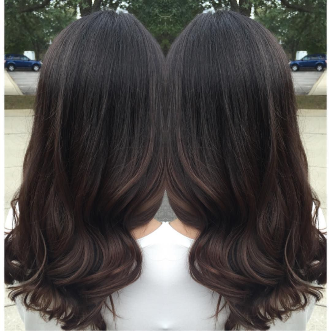 See This Instagram Photo By Hairbyfaithwaller 17 Likes Black Hair Balayage Brown Hair Balayage Hair Color For Black Hair