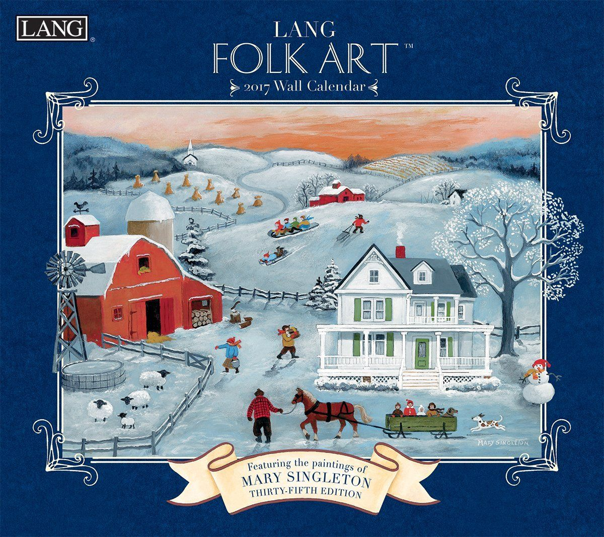 Amazon.com : Lang 2017 Lang Folk Art Wall Calendar, 13.375 x 24 inches (17991001922) : Office Products