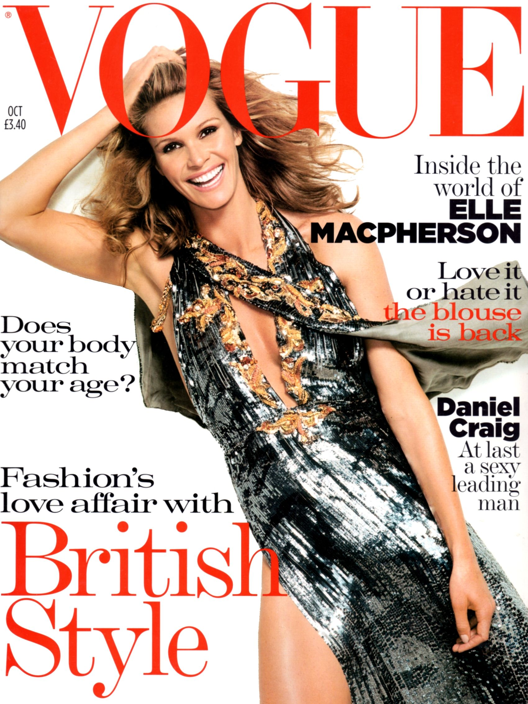 7746856de89fa Elle MacPherson by Mario Testino Vogue UK October 2004