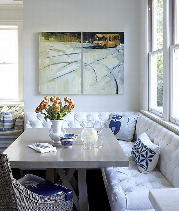 Cozy Elegant Breakfast Nook Dining Room Small Kitchen Banquette Dining Nook