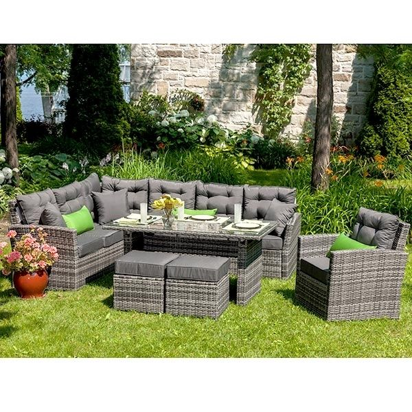 Liverno Collections Club Piscine Outdoor Furniture Sets Outdoor Decor Outdoor Sectional Sofa