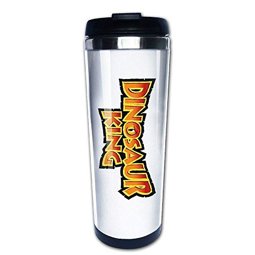 GYB HOME Dinosaur Golden Coffee MugsWater BottleTravel MugVacuum Cup ** Click image to review more details. (Note:Amazon affiliate link)