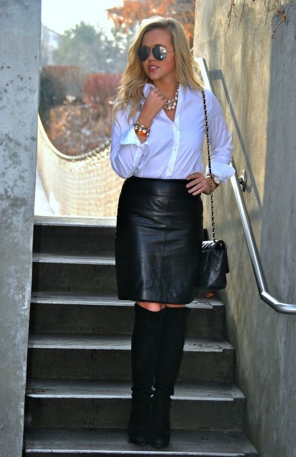 066885e4c3 my favorite office and beauty clothes : Photo Skirts With Boots, Leather  Fashion, Tall