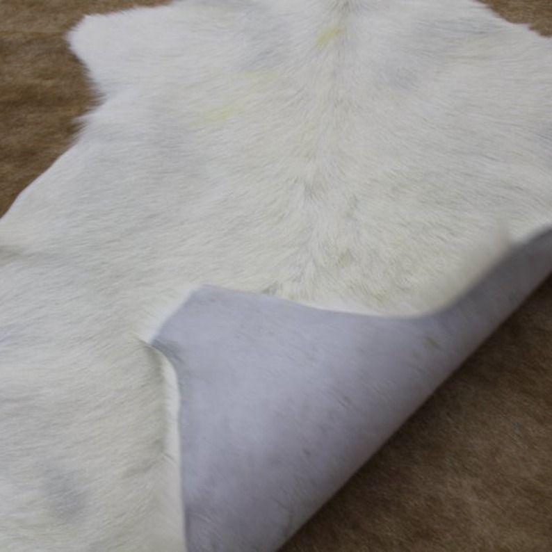 Animal Hide Fur White Small Cute Rug