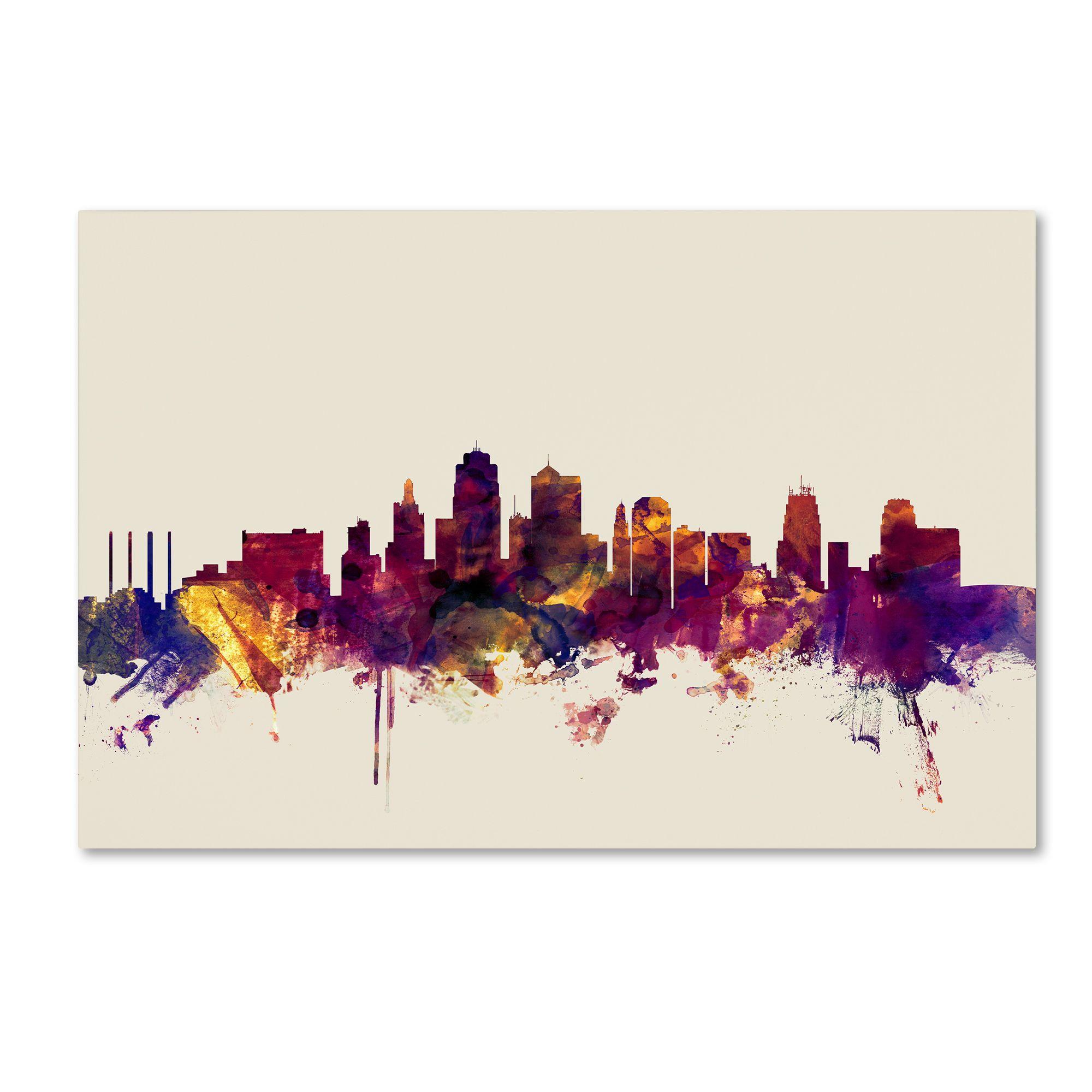 Trademark Fine Art Michael Tompsett 'Kansas City Skyline