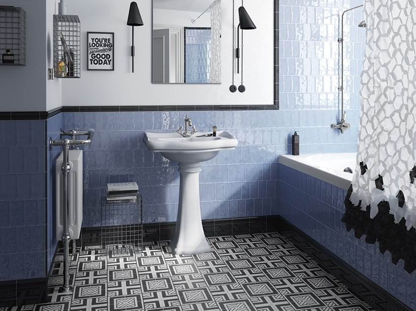 Download The Catalogue And Request Prices Of Masia By Equipe Ceramicas White Paste Wall Tiles Blue Bathroom Tile Tile Bathroom White Bathroom Designs