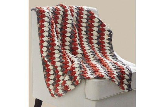 Bernat Blanket Larksfoot Blanket | Afghan Crochet Patterns | Pinterest