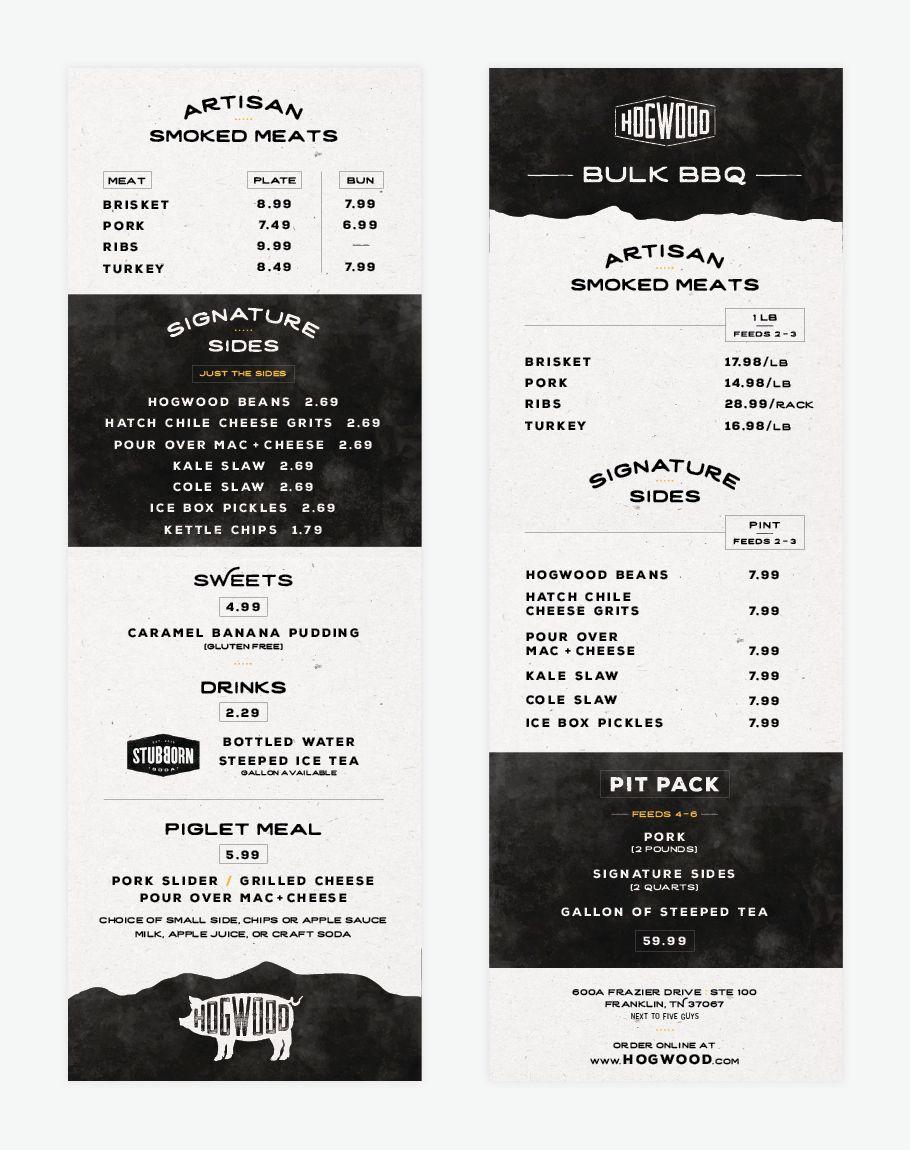 Bbq Restaurant Menu Design Menu Restaurant Restaurant Menu Design Bbq Menu Design