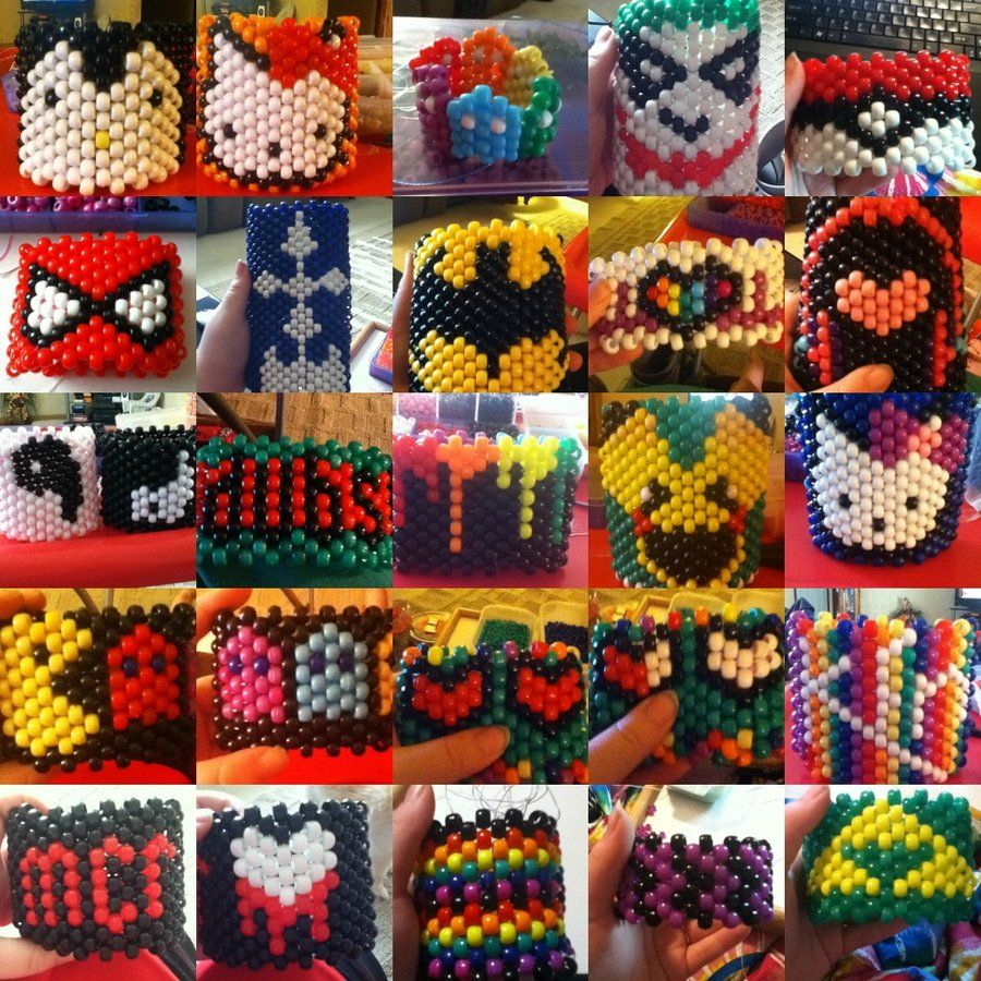 This gives a good idea of the multitude of things you can do with kandi cuffs!