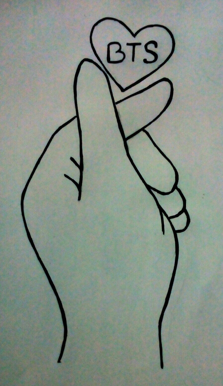 BTS  Bangtan sonyeondan BTS saranghae #fingerheart#kpop#bts#namjoon#jin#suga#jhope#jimin#taehyung#jungkook By-Kabitakh