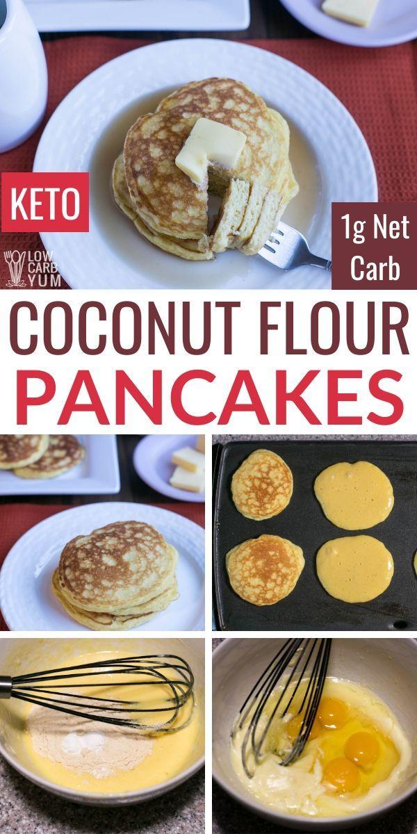 Gluten Free Coconut Flour Pancakes | Low Carb Yum