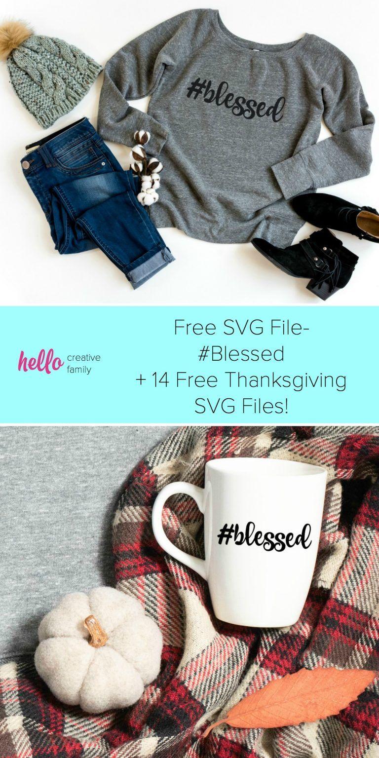 Free SVG File Blessed + Thanksgiving SVG Blog Hop in