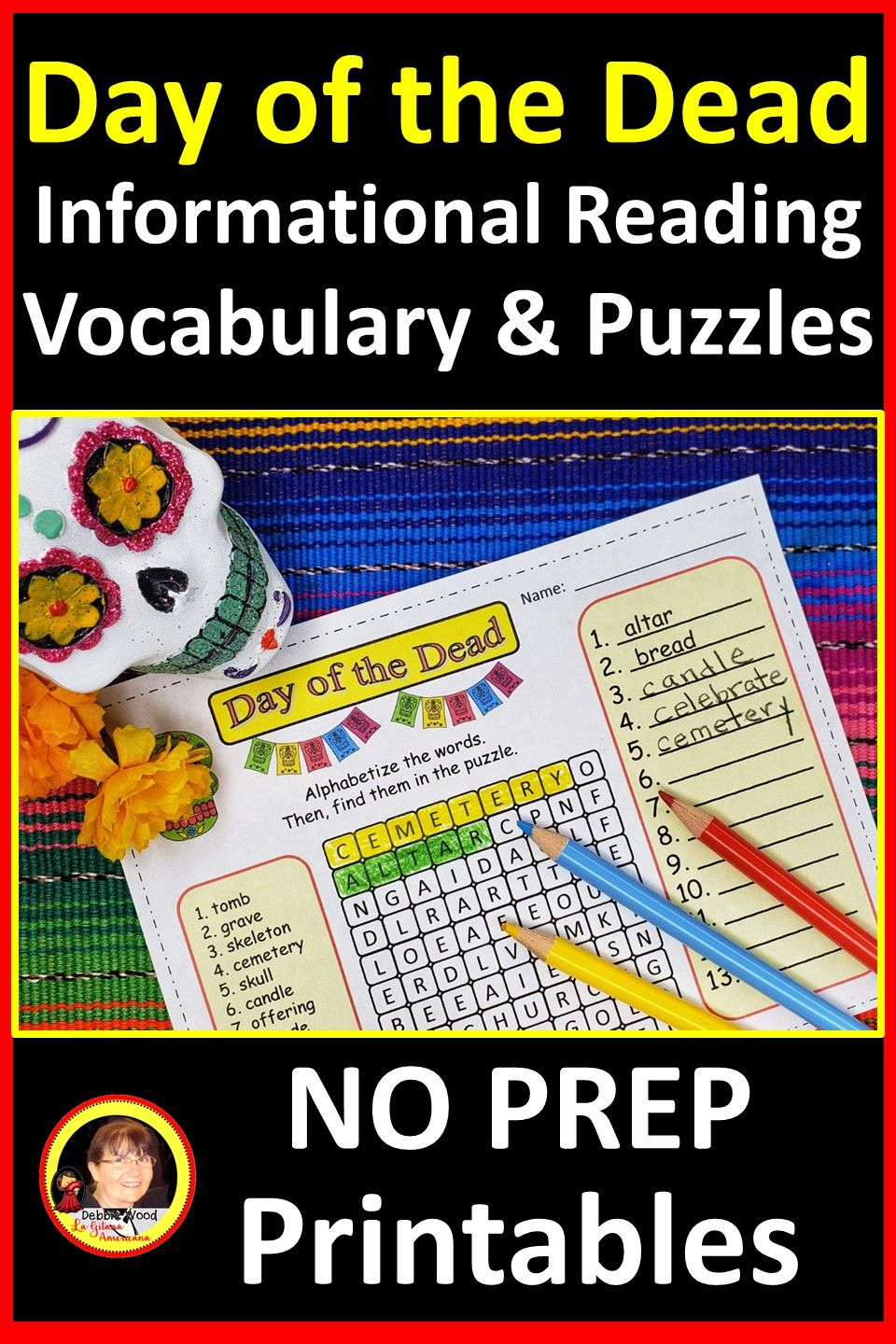 Day Of The Dead Activities Day Of The Dead Reading Passage Reading Vocabulary Informational Reading Cloze Reading [ 1440 x 960 Pixel ]