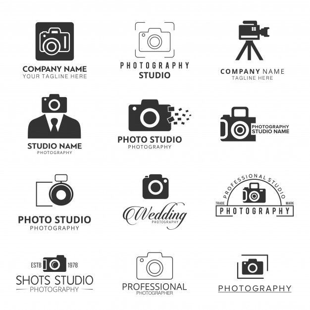 Download Black Icons For Photographers For Free Photography Logo