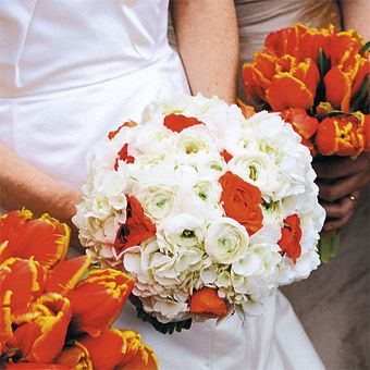 White and orange wedding bouquets cattails created the bridesmaids white and orange wedding bouquets cattails created the bridesmaidsu2019 bouquets of flame mightylinksfo