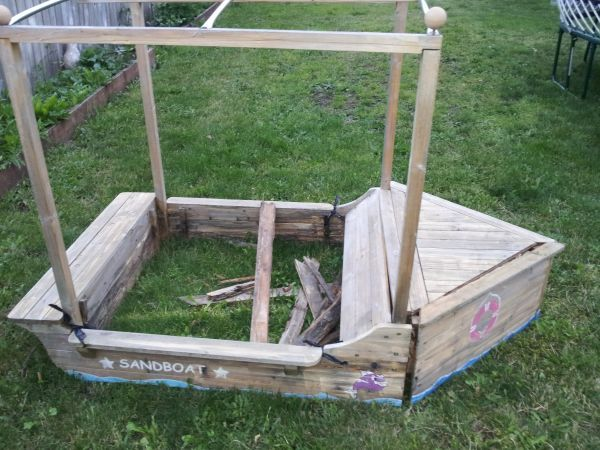 Wooden Sail Boat Sandbox Idea For Boys Kids Outdoor Play Fun Projects For Kids Sandboxes