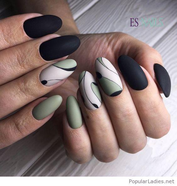Interesting Printed Nails Nails And Art Pinterest Nail Art