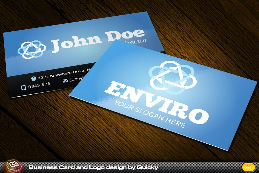 Enviro Business Card And Logo Business Cards Creative Templates Modern Business Cards Business Card Template Design