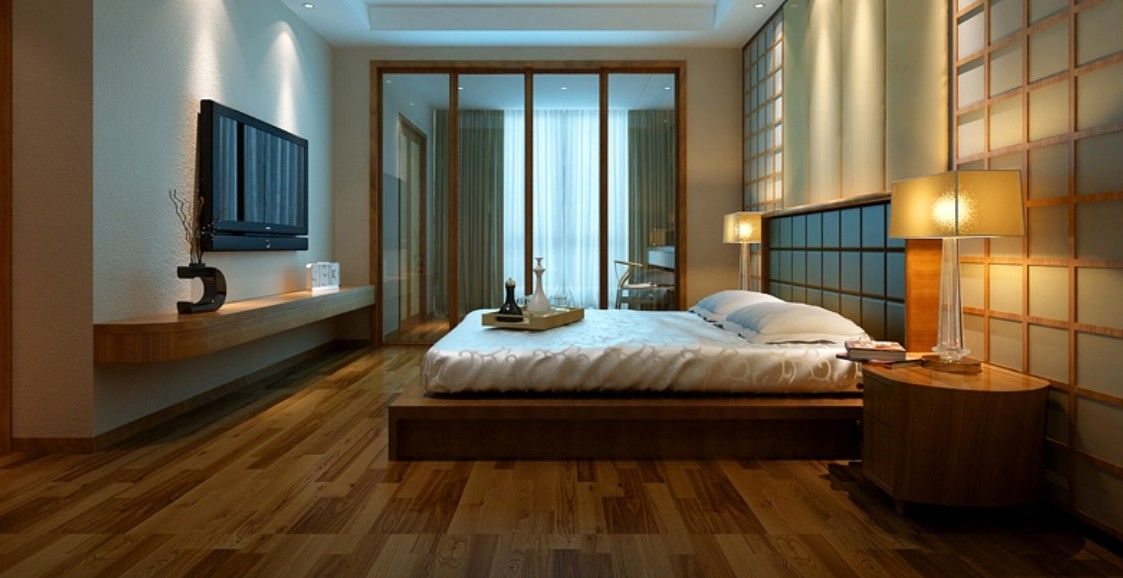 Rustic Wooden Floor Bedroom Design Inspirations Wooden
