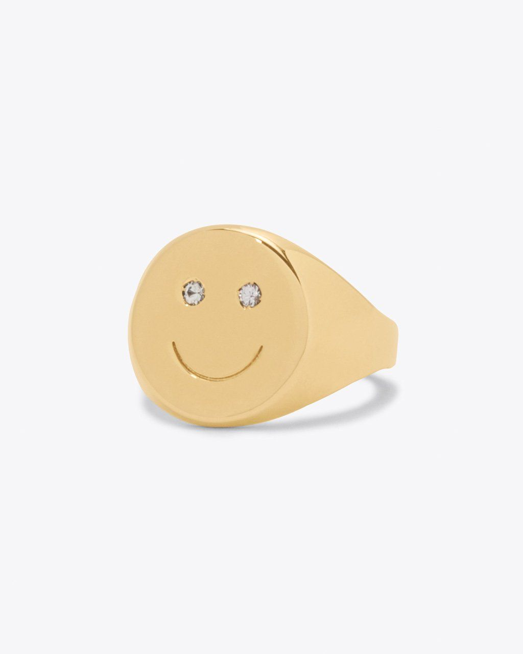 Happy Signet Ring By One Six Five Ring Ban Do Signet Ring Unique Engagement Rings Rose Gold Yellow Gold Wedding Ring