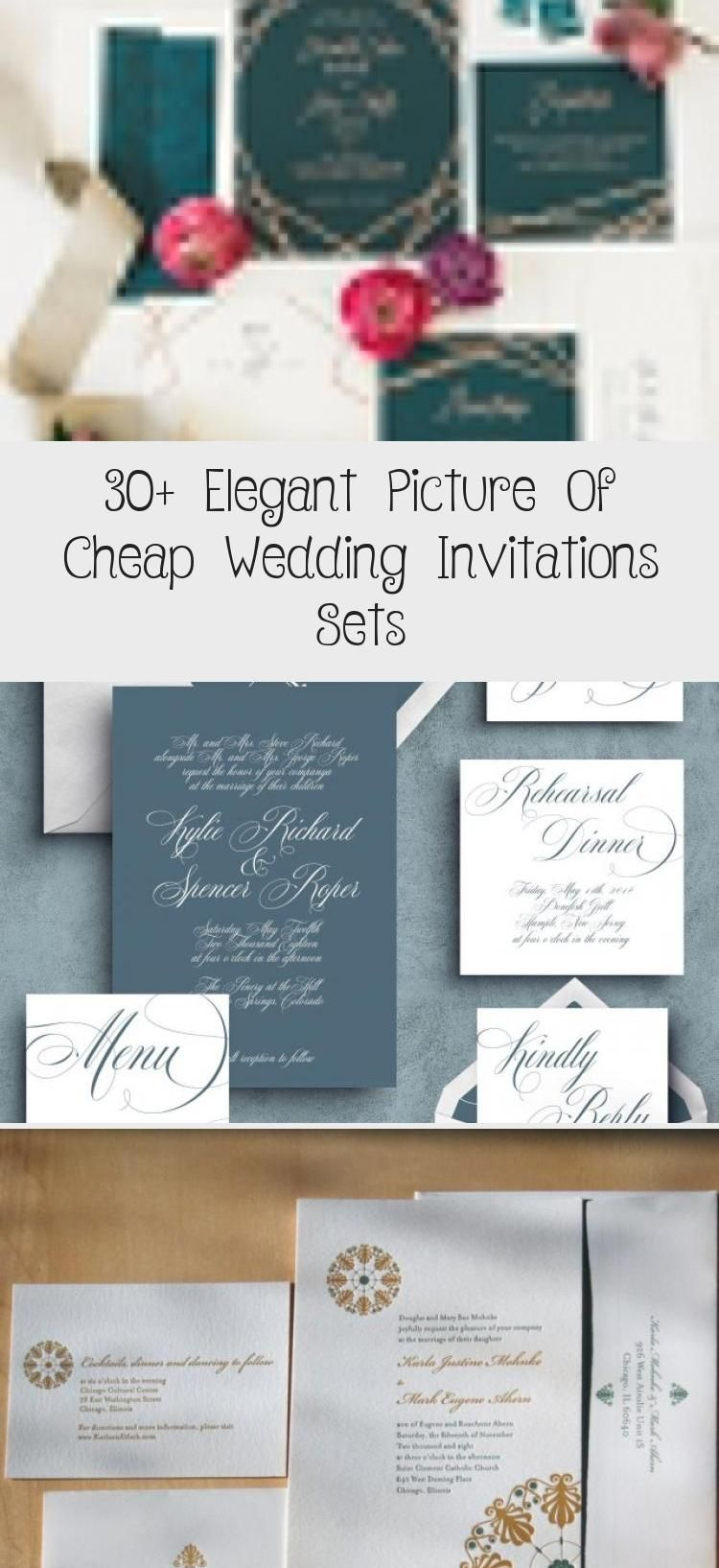 30 Elegant Picture Of Cheap Wedding Invitations Sets Cheap Wedding Invitations Inexpensive Wedding Invitations Wedding Invitations