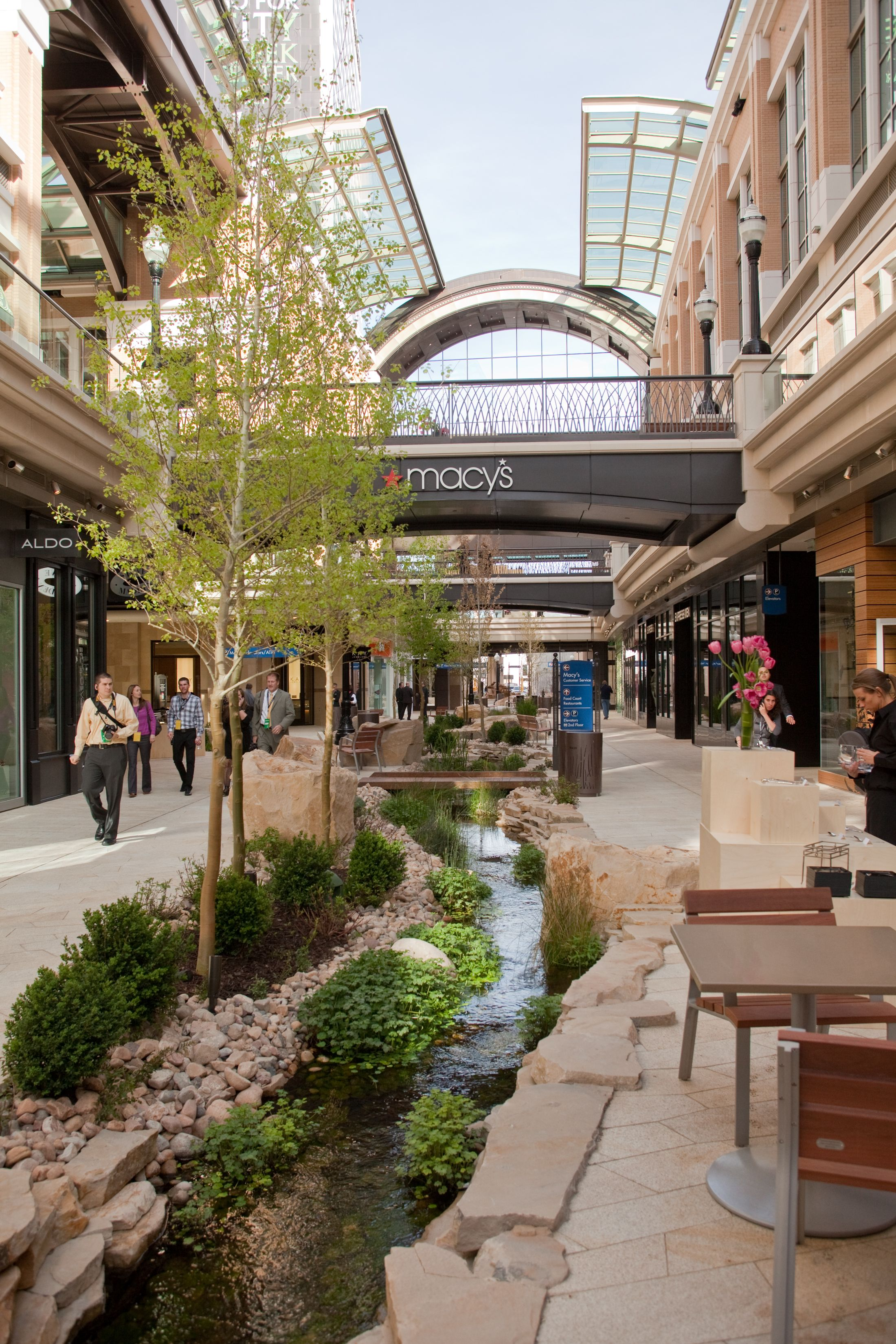 Area Mobilier Urbain City Creek Center Shopping Area In Slc Utah Photograph