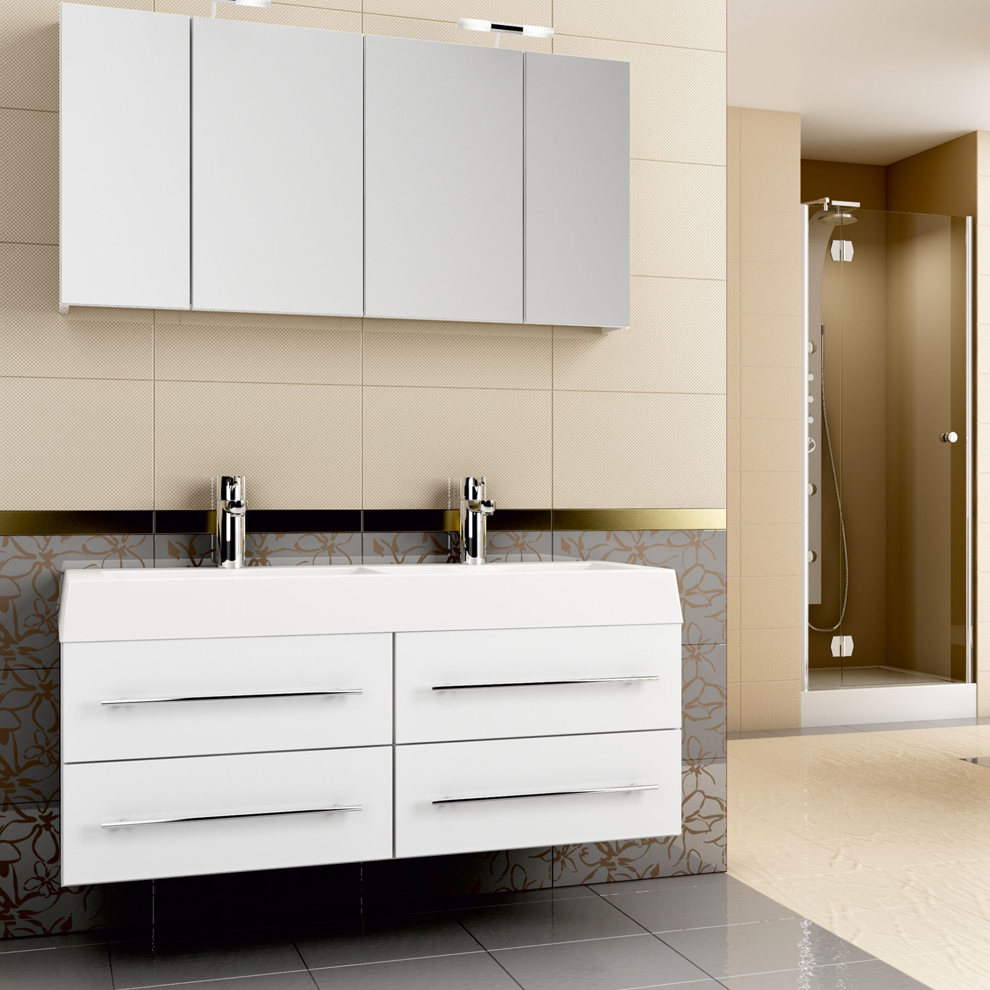 Pin By Badezimmer Ideen Eintagamsee On Gute Badideen Vanity Double Vanity Bathroom