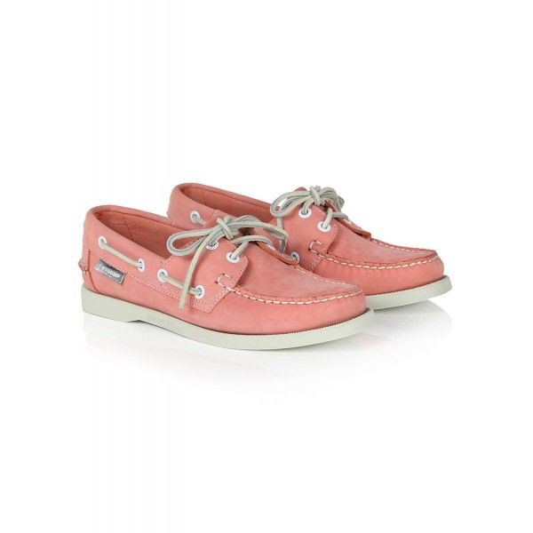 Sebago Women's Docksides 70th Anniversary Boat Shoes - Coral Nubuck
