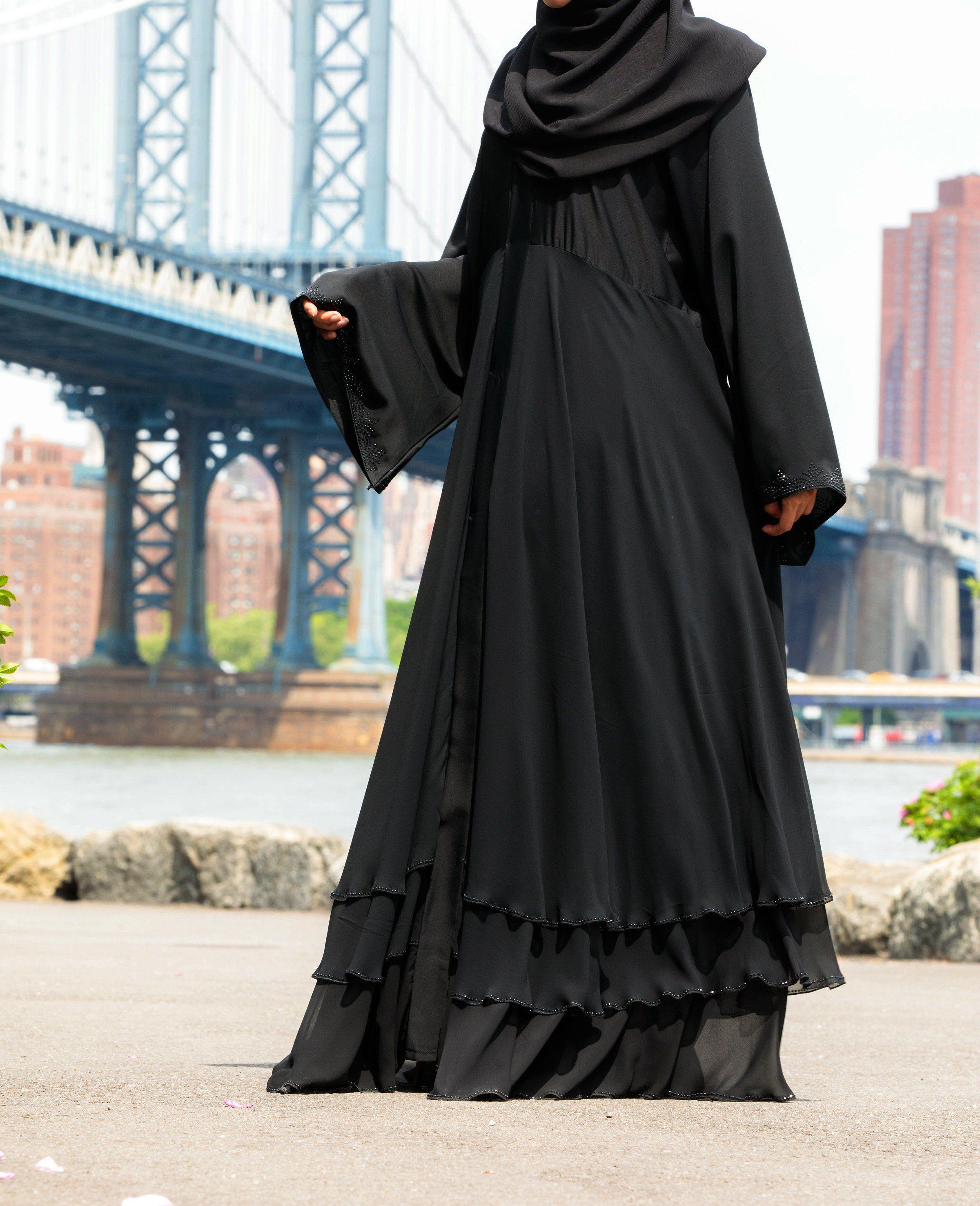 Pin On Classic Black Abayas