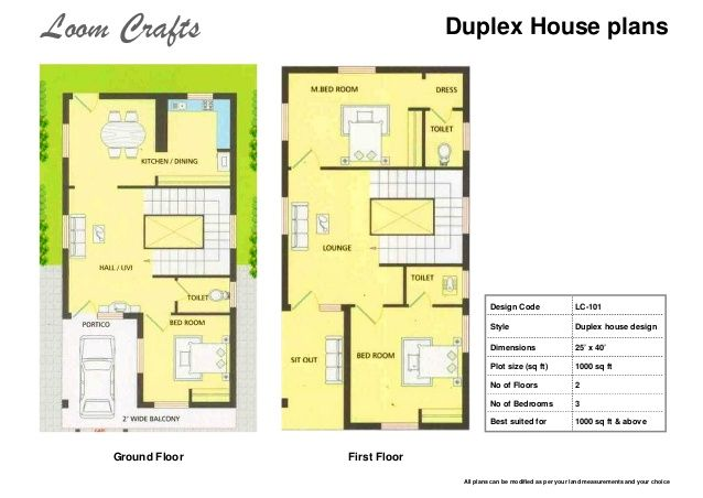 3 Bedroom Duplex House Plans India Duplex Home Plans